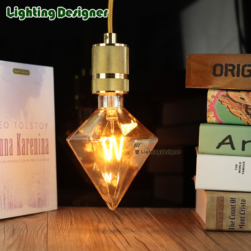 stylish diamond LED decor bulb 4W 110-220V amber color novelty bulbs fancy lighting bulb