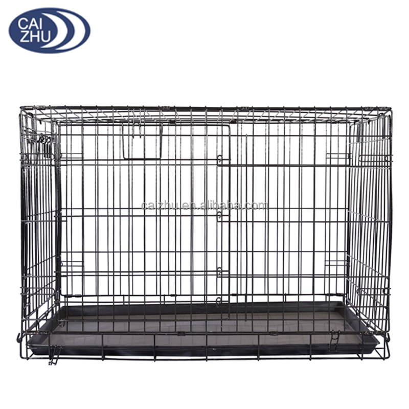 China wholesale large metal dog house fabric with double door