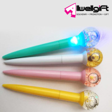 Creative Gift Souvenir New Design 3d Liquid Floating Plastic Pen with led light