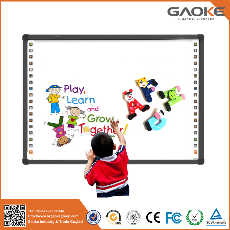 High quality wall mounted aluminum frame smart memo board pcb with multilanguage whiteboard software