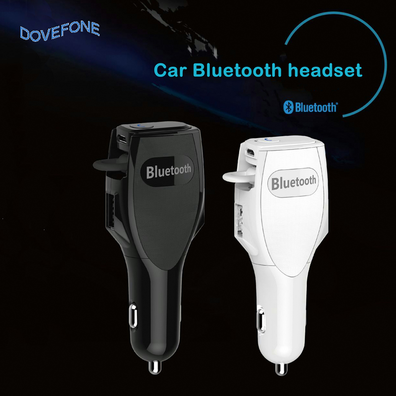 Online shopping Bluetooth V4.0 earphone&Car Charger Led display Bluetooth headset and Car Phone Charger 2 in 1 For Iphone