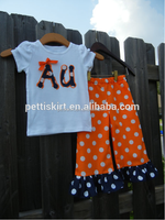 Australia Design Summer Girls Fashion Ruffle Dots Clothes Set Boutique Kids Casual Clothing
