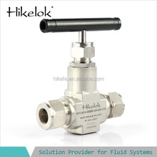 high pressures Swagelok type straight brass needle valve