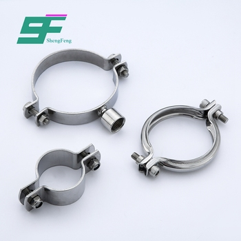 ShengFeng Hygienic SS316 stainless steel high pressure water pipe clamps
