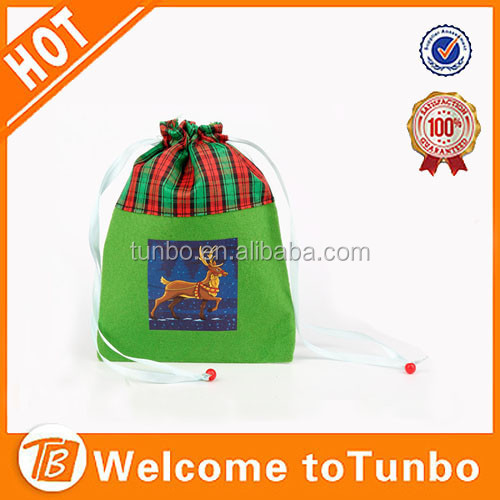 Wholesale xmas gift bag custom logo cheap personalized christmas ornaments in bulk