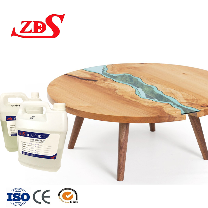 Transparent ab <strong>glue</strong> for clear resin art/filler for wood/resin epoxy non toxic