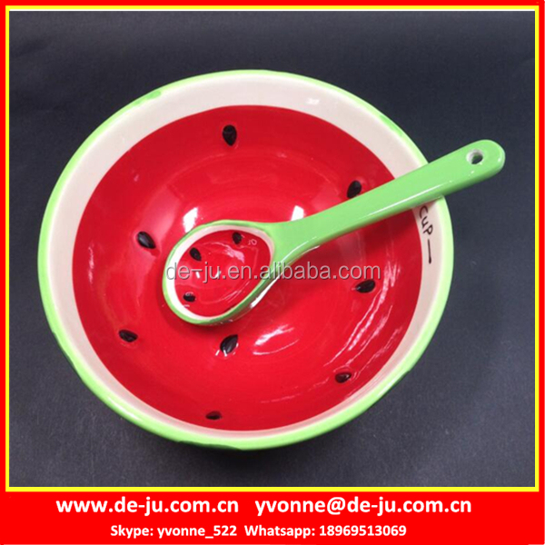 Promotion Fuit Shaped Red Chinese Ceramic Bowls