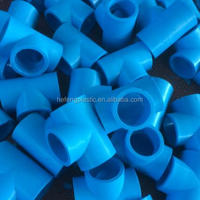 HDPE Pipe Fittings Equal Tee Blue