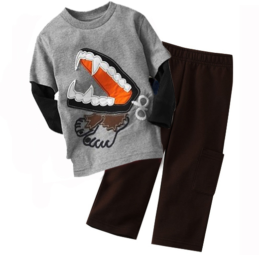 Child Brands Garment Boys Two Piece Clothes Turkish Style Warm Fleece Sets