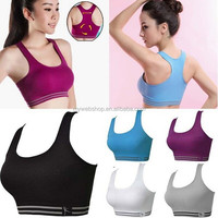 Sports Bra Fitness Tank top Stretch Seamless Racerback Spandex/Nylon bra