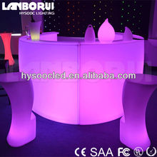 double table top led bar counter with remote control for party or wedding