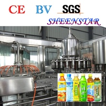 Concentrated pet bottle hot apple juice filling machine