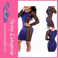 ML18225 top fashion party dresses imported from china sexy club wear bandage dress dress women rock and roll