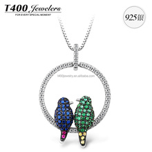 T400 Fashion 925 Sterling Silver Necklace, Made With Swarovski Elemennts Zirconia Jewelry #10595