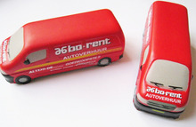 80mm mini bus stress toy,bus stress ball,soft foam bus