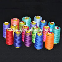 New material organic embroidery thread 100% polyester yarn 60s/2 polyester spun yarn 30/2 40/2 maximizing