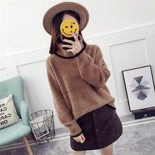 Imitation Mink Velvet Design Of Hand Made Sweater Turtleneck Latest New Style Knit Sweater