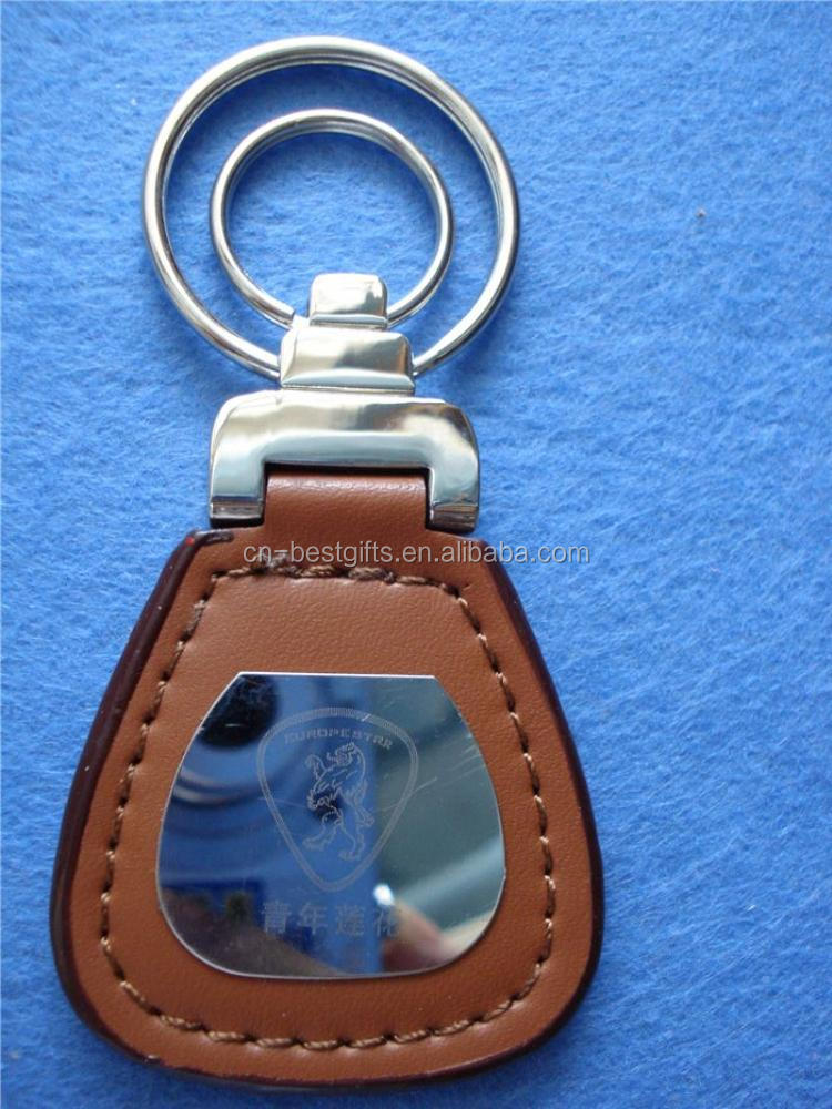 Most popular OEM design heart leather key chain for sale