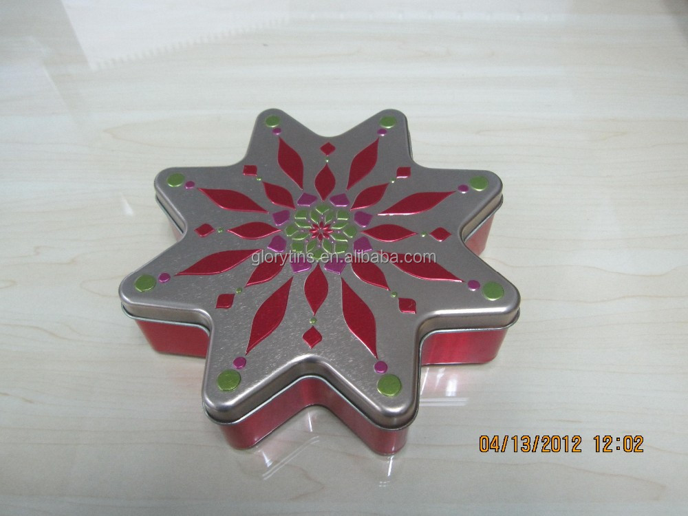 octagon shape tin like flower for candy packing