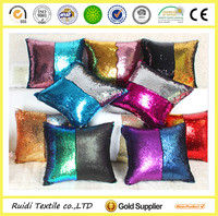 fashion popular hand embroidery DIY reversible sequin cushion cover
