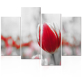 "Tulip Photo Canvas Prints Artistic Flower Picture Canvas Printing Artwork Home Wall Decoration (12""x24""x2 12""x32""x2)"