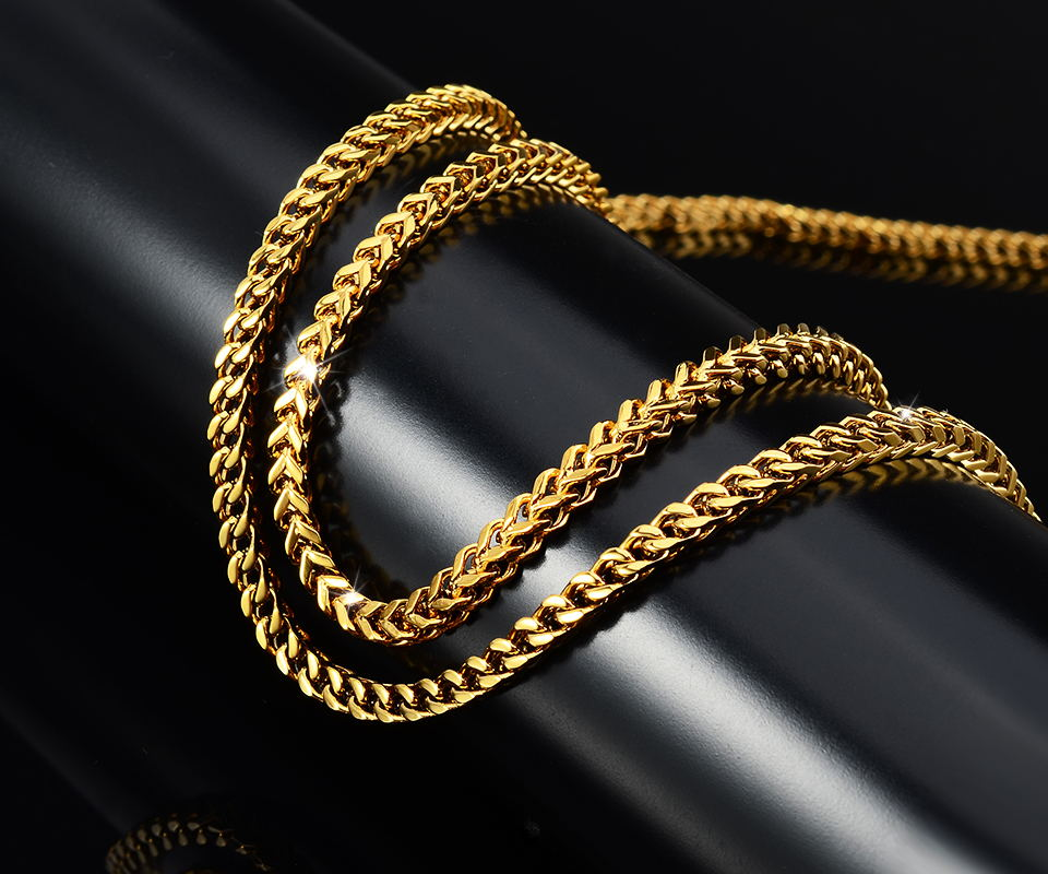 stainless steel jewelry findings gold chain necklace latest chain designs for man