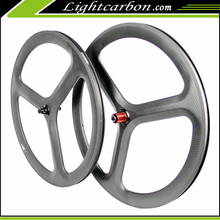 2016 LightCarbon toray t700 triathlon 50mm carbon road bike clincher wheels 700c time trial bike 3 spoke carbon wheels-3S-50