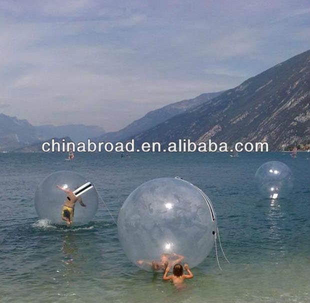 2m plastic 1mm pvc crystal ball water fountain