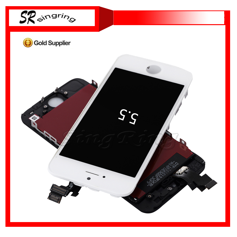 Low price china mobile phone screen displays for iphone 6 plus lcd touch panel with dhl free shipping