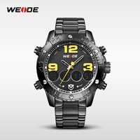2015 most popular products relogio masculino all stainless steel black watches quartz watches