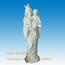 Hot Sale Marble Mother Mary Statue With Baby Jesus