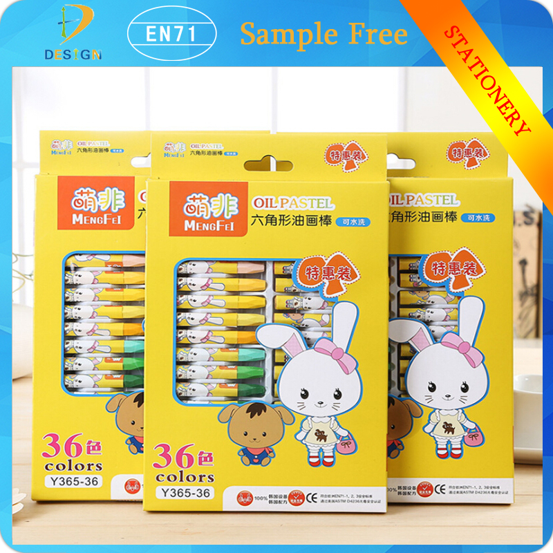 Creative Gift School Supplies stationery 12/18/24/36pcs New Cute Cartoon washable Crayon Set