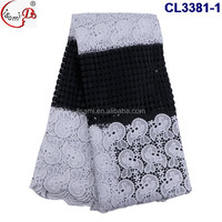 CL3381 New arriving High Quality African French Lace heavy strong Fabric Cord Lace French Lace for Clothes or Dress with stone