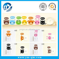 Cute cartoon animal switch sticker appliance wall sticker