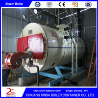 China High Efficiency 0.5ton / 500kg Steam Boiler LPG CNG LDO light oil heavy oil waste oil fuel fired