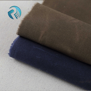 High quality guangzhou textile waterproof 16 oz cotton waxed canvas fabric for tent