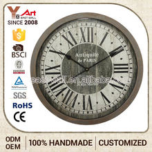 Cheap Prices Sales Custom Printing Antique Style Guitar Shape Wall Clock