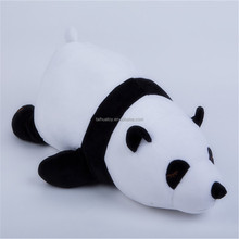 Custom logo 3d cartoon animal kids pillow printed popular style panda plush toy for small baby