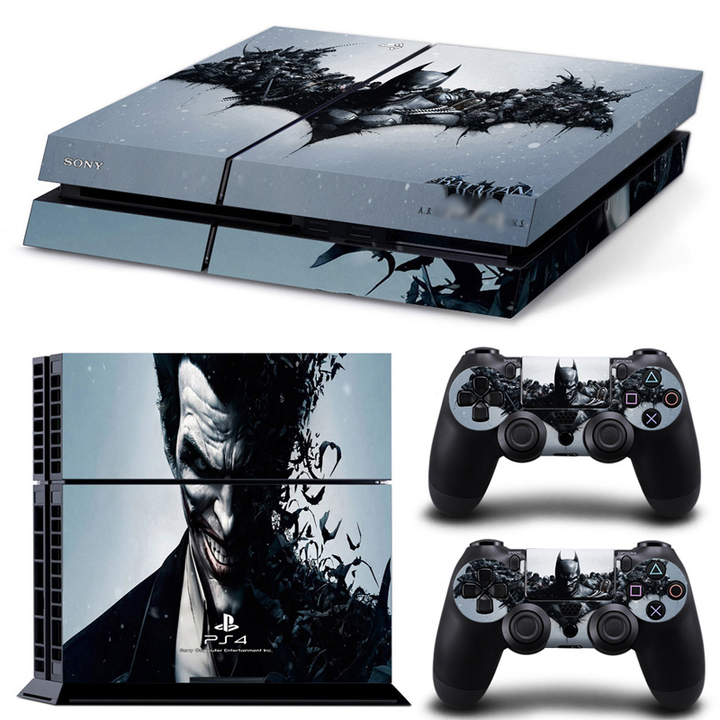 Joker skin sticker for ps4 games original decal for playstation 4 console and dualshock 4 for ps4 sticker for ps4 accessories