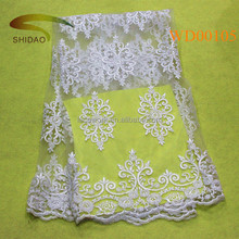 Luxury dubai dress 3d lace fabric beads bridal