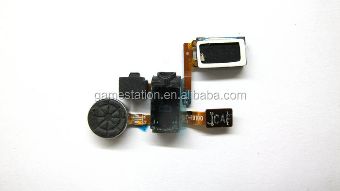 Phone Spare Parts Handset socket with Vibrator and speaker flex cable For Samsung Galaxy S2 i9100 Handset flex cable