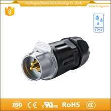 Gold plated 3-pin xlr 3.5mm automotive female male cable power plug dust cover chassis socket dc power connectors