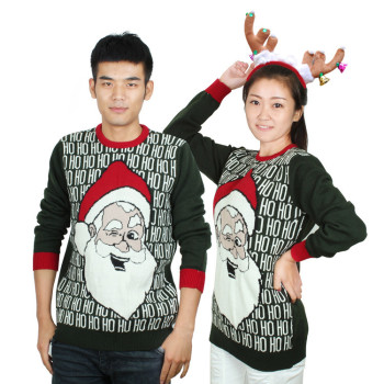 MS70964G New arrival men Christmas Santa design sweaters