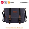 Latest Design Men's Canvas Messenger Bag Laptop Shoulder Bag Dark Gray Wholesale