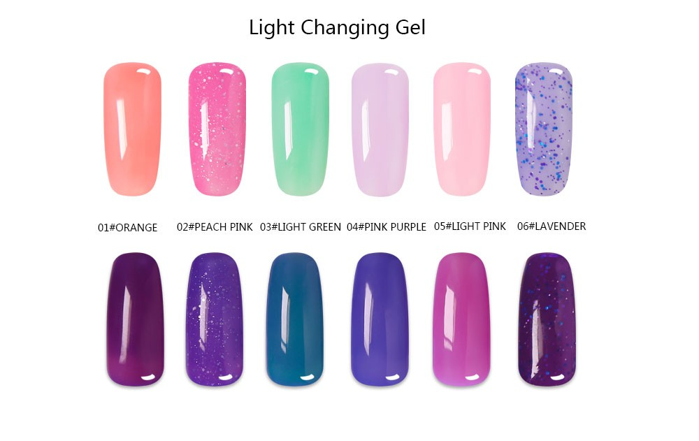 2016 Exclusive Launch Sunlight Color Gel Polish ,Color Changing Nail Gel Polish