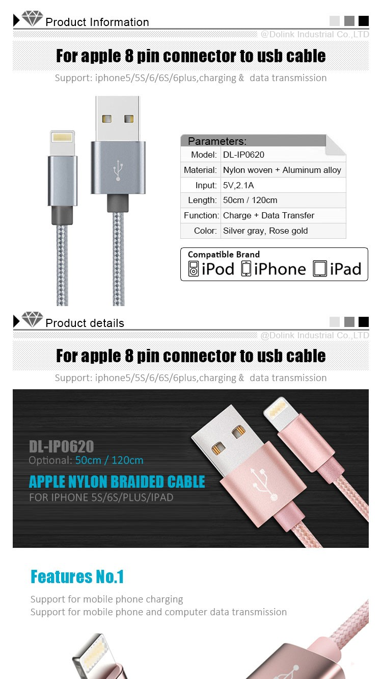 Wholesale Mobile Smartphone Accessorie Portable Mini Data MFI Micro Magnetic Charging Otg USB Cable For iPhone