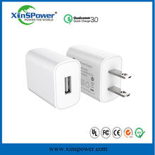 3 ports qualcomm quick charge universal power adapter with max current DC 9.8A of EU plug for iPhone/iPad/Samsung/Smart phone/Ta
