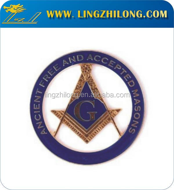 Masonic and Accepted Free Mason Auto Emblem Car Emblem
