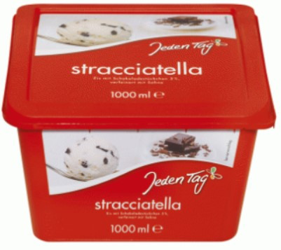 Jeden Tag Straciatella Ice Cream 1000ml