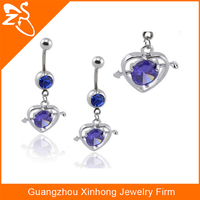 Fashion design crystal belly button rings Indian body jewelry